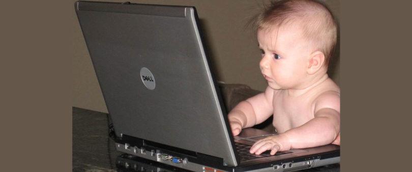 Ocho de cada 10 bebés menores de seis meses ya están en Internet