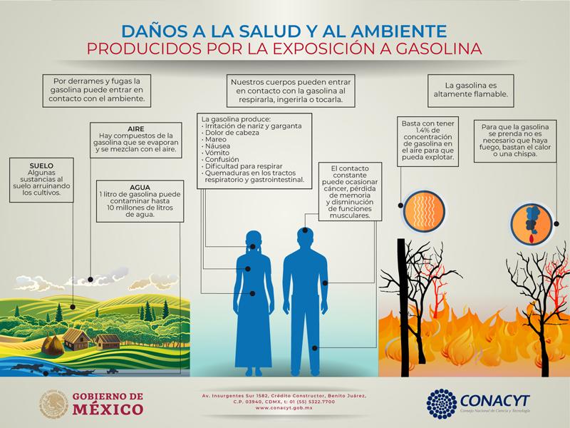 Daños a la salud y al medio ambiente producidos por la exposición a gasolina