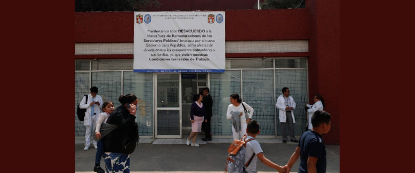 Protestan en Hospital Infantil por recortes de trabajadores