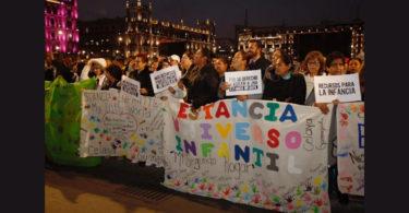 Protestan por recortes en estancias infantiles