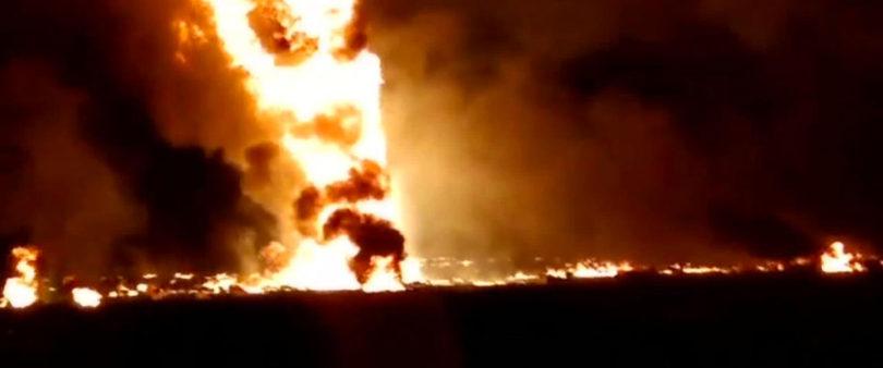 Van 125 muertos por explosión en ducto