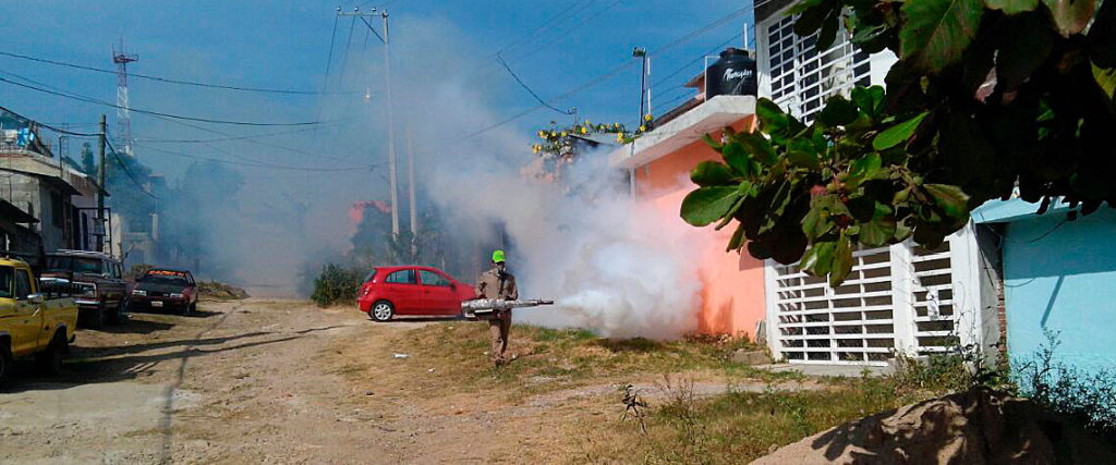 Refuerza Salud operativos contra dengue en Chiapas
